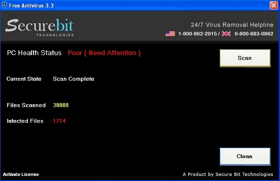 [Image: Securebit Free Antivirus virus]