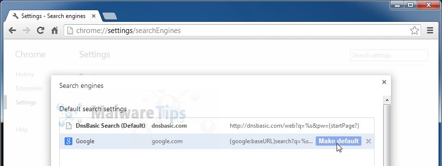 [Image: DnsBasic Chrome search]