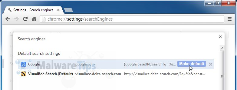 [Image: VisualBee Search Chrome redirect]