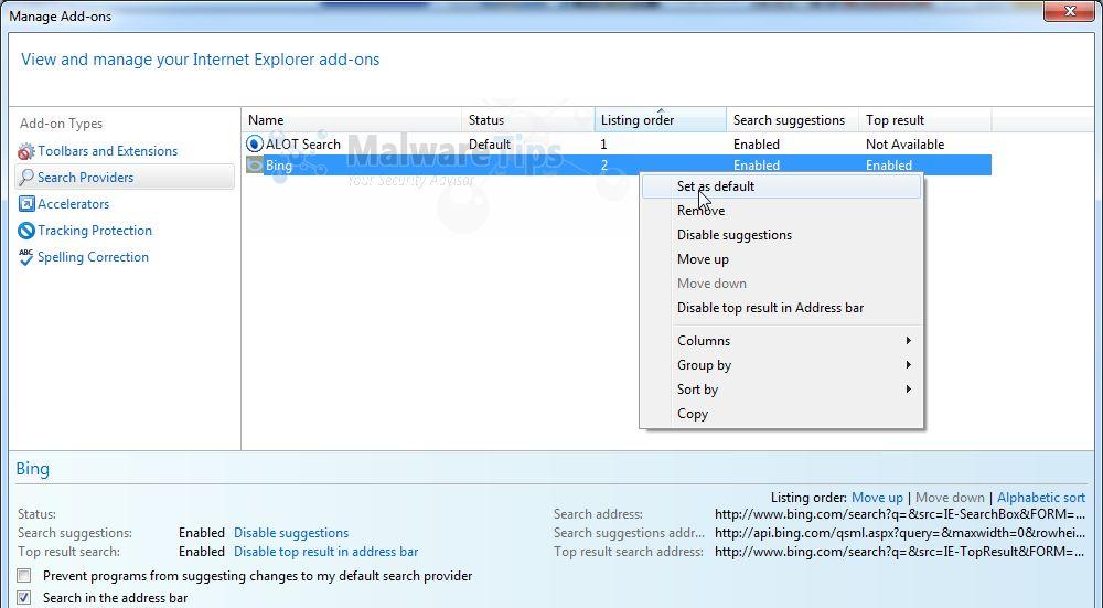 Remove Alot Toolbar And Search.alot.com (Removal Guide