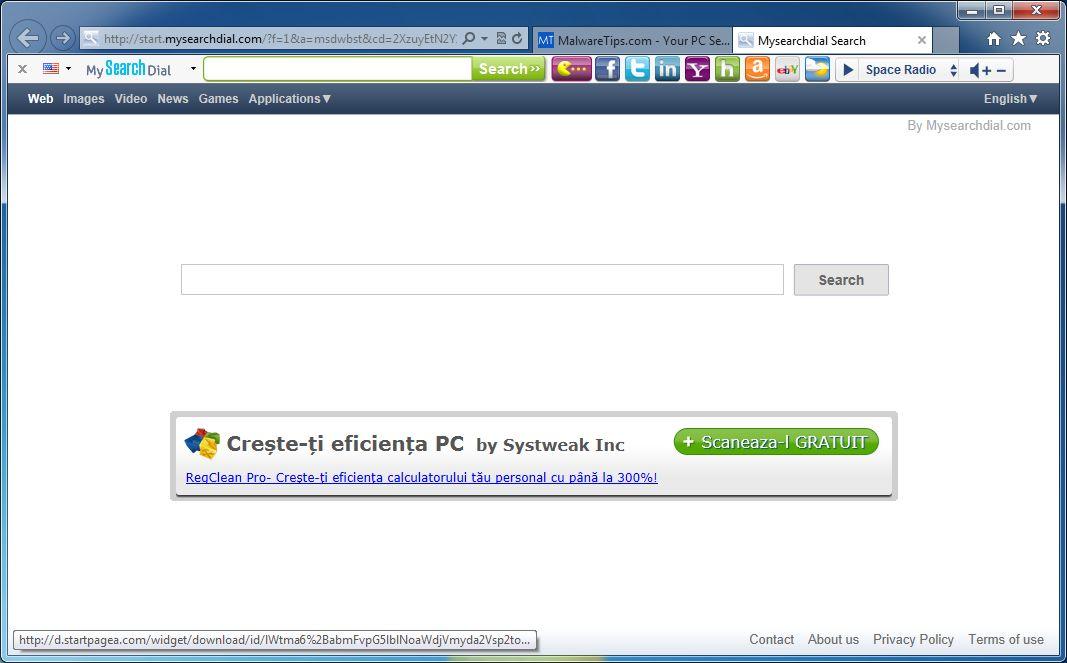 [Image: MySearchDial Toolbar virus]