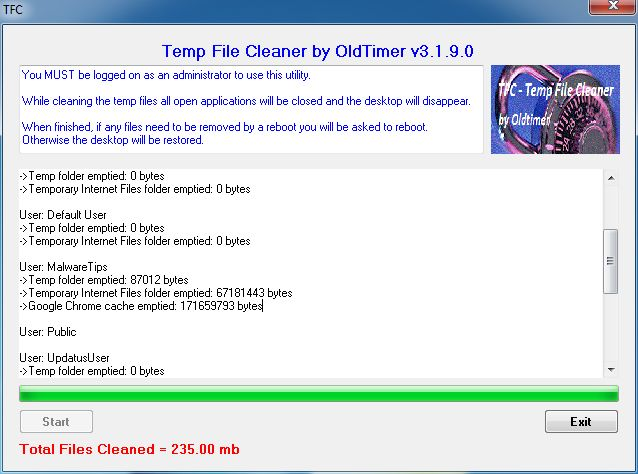 [Image: Temp File Cleaner logs]