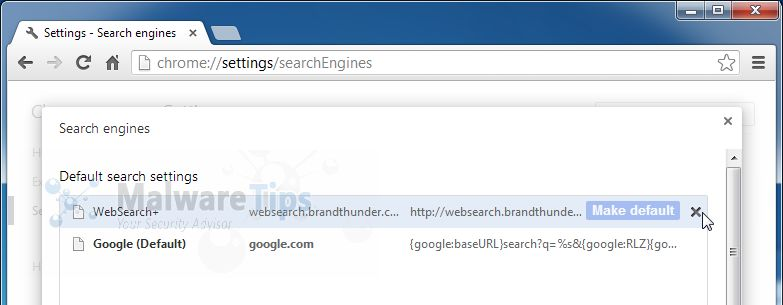 [Image: Websearch.brandthunder.com Chrome removal]