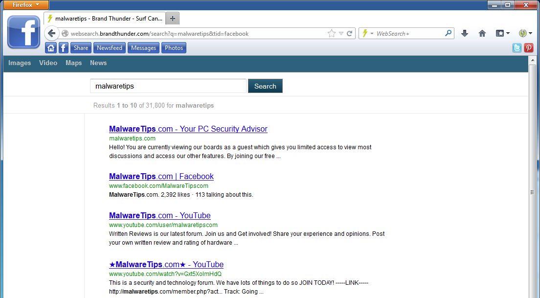 [Image: websearch.brandthunder.com virus]