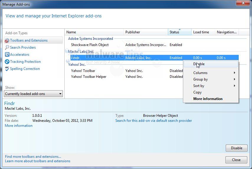 how to delete toolbars on internet explorer