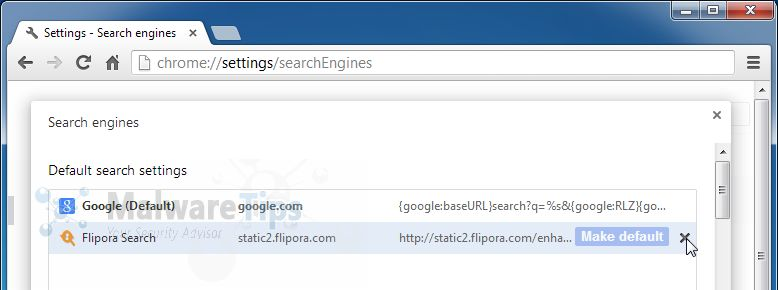 [Image: Flipora Search Chrome removal]