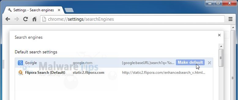[Image: Flipora Search Chrome virus]