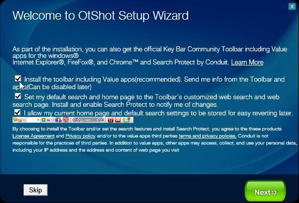 [Image: Otshot setup process