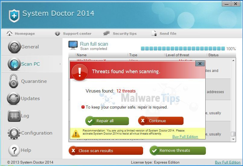 [Image: System Doctor 2014 Warning]