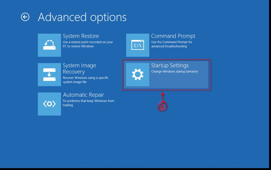 [Image: Windows 8 Startup Settings]