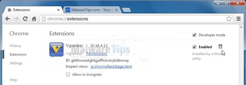 [Image: vGrabber Toolbar Chrome extension]