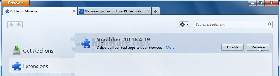 [Image: vGrabber Toolbar Firefox extension]