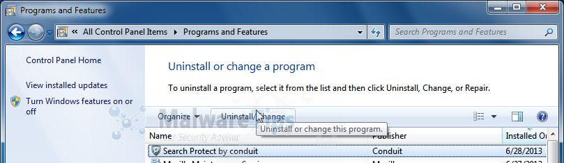 [Image: Uninstall vGrabber Toolbar from Windows]