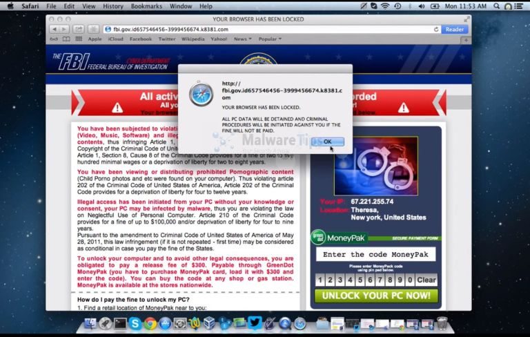 [Image: FBI Mac OS X virus]