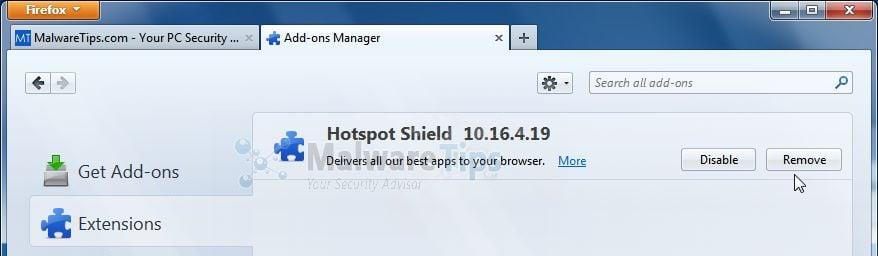Remove Hotspot Shield Toolbar (Uninstall Guide)