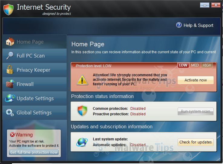 Internet Security designed to protect virus malware