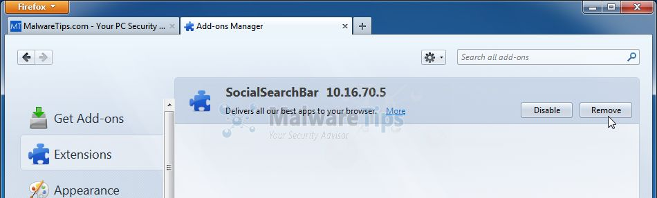 [Image: Social Search Toolbar Firefox extension]