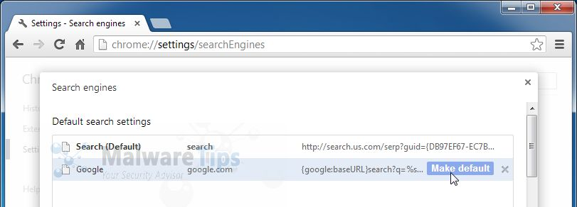 Start.search.us.com Chrome hijack