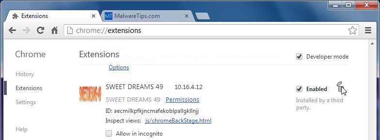 [Image: Sweetdreams-49 Toolbar Chrome extension]