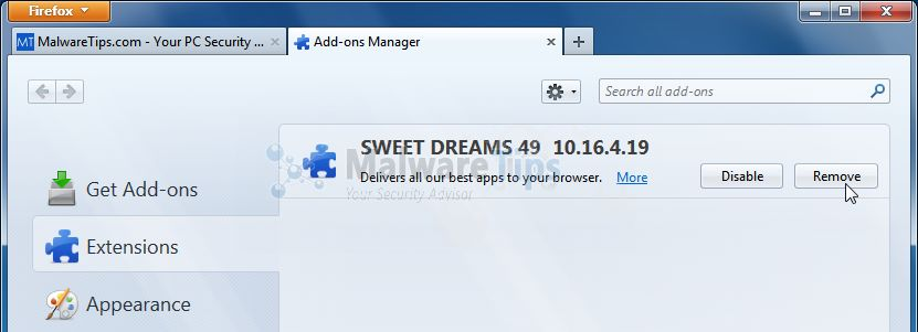 [Image: Sweetdreams-49 Toolbar Firefox extension]