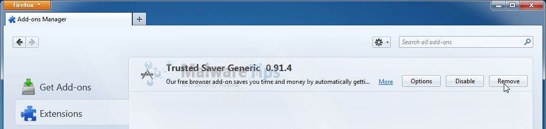 [Image: Trusted Saver Firefox extension]