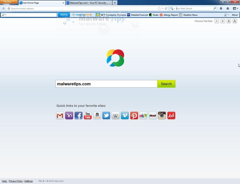 WeatherBlink toolbar virus