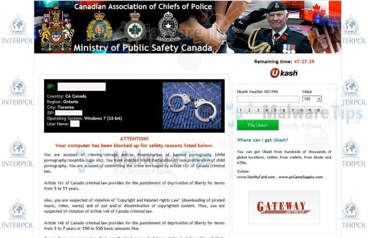 [Image: Canadian Association of Chiefs of Police virus]