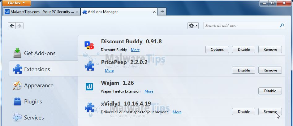 [Image: Xvidly Toolbar Firefox extensions]