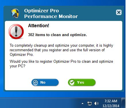 Optimizer Pro Performance Monitor virus