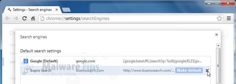how to remove bueno search