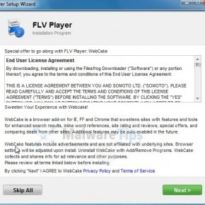[Image: FLV Player adware]