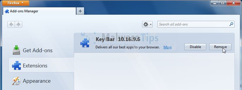 [Image: KeyBar Toolbar Firefox extension]