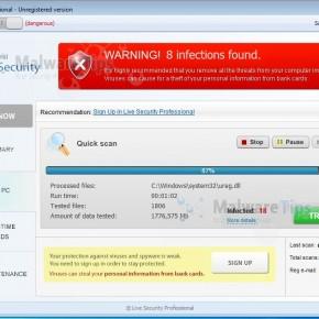 [Image: Live Security Professional virus]