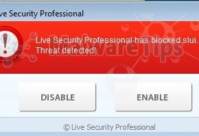 [Image: Live Security Professional Warning]