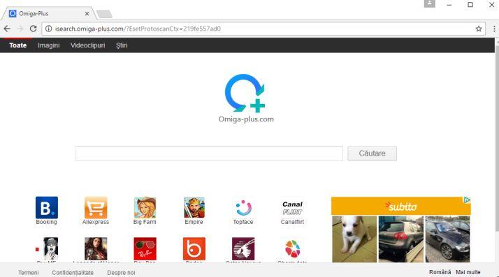Omiga Plus homepage