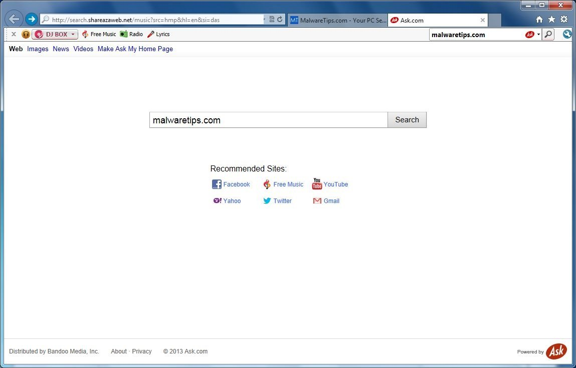 Remove Search.shareazaweb.net virus (Removal Guide)