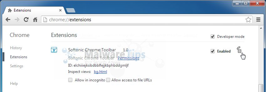 [Image: Softonic Toolbar Chrome extension]