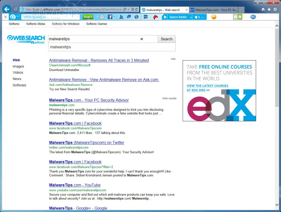 [Image: Softonic Toolbar search]