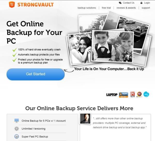 [Image: StrongVault Online Backup virus]