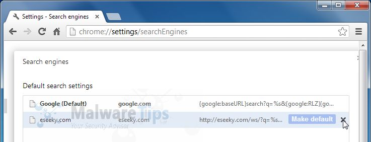 how to change new tab search engine chrome