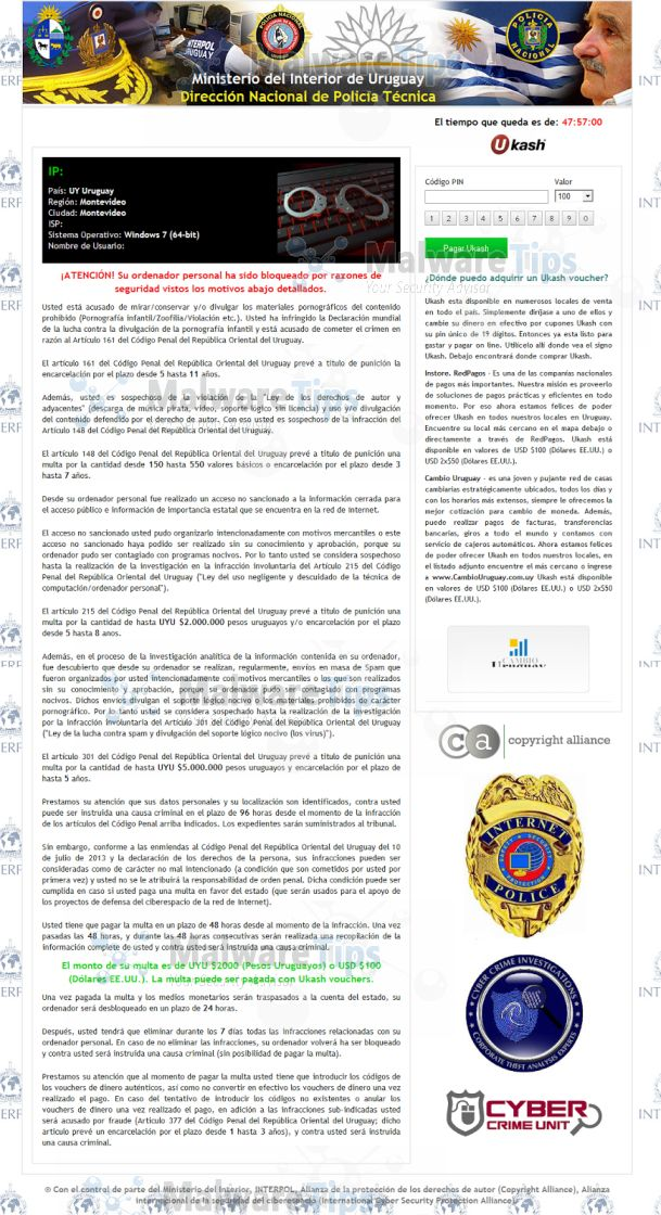 Remove ministerio del interior de uruguay virus removal for Ministerio de interior direccion