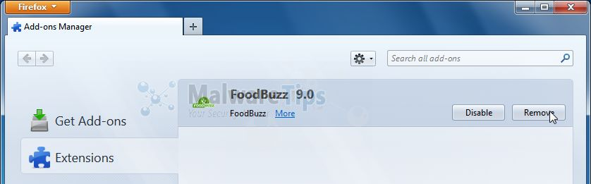 [Image: FoodBuzz Firefox extension]