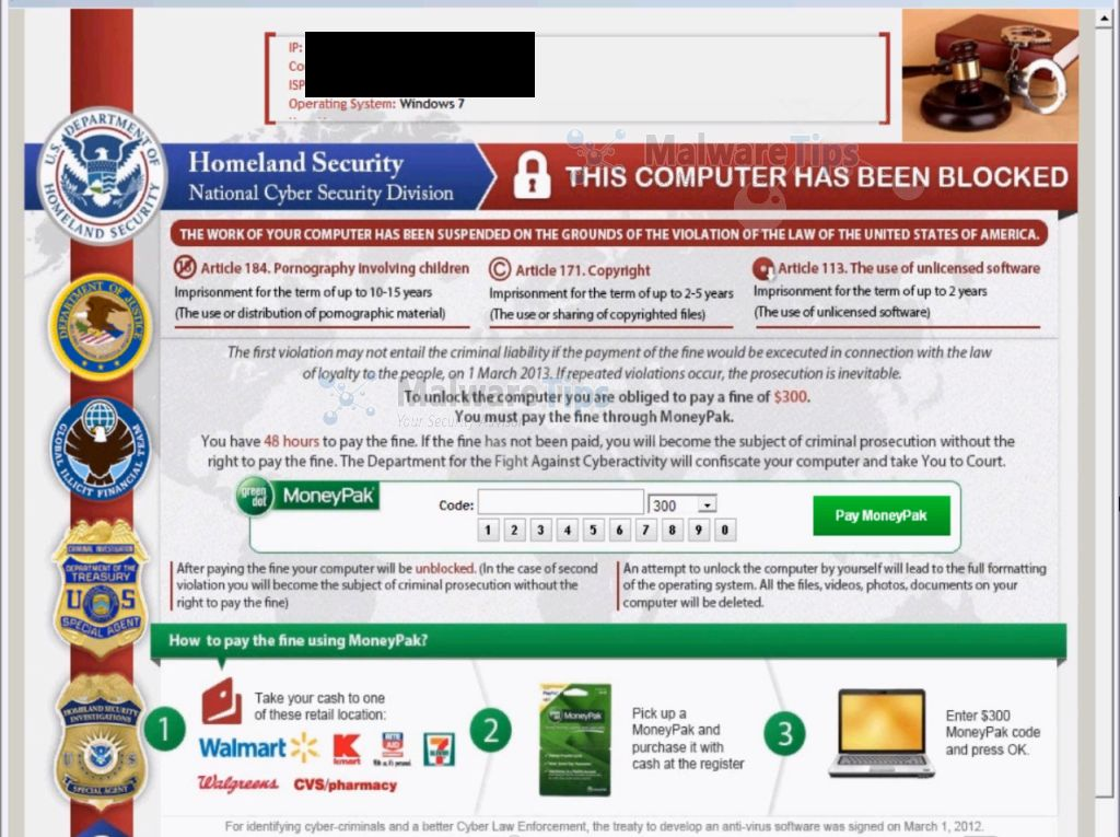 Homeland Security malware tips