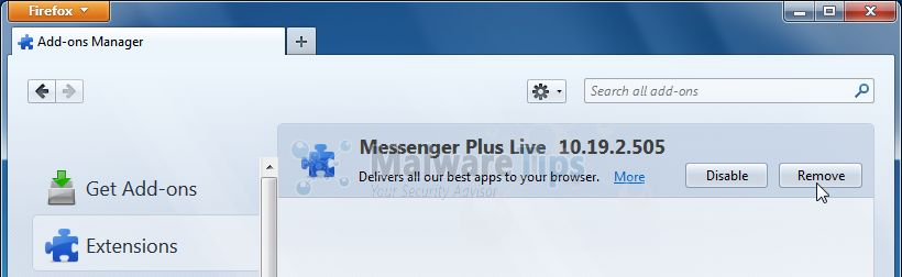 [Image: Messenger Plus Toolbar Firefox extension]
