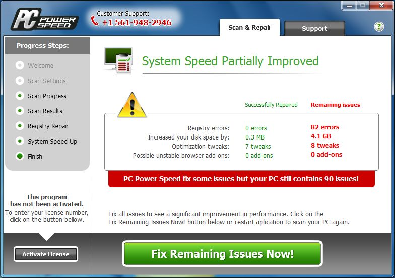 [Image: PC Power Speed pop-up virus]
