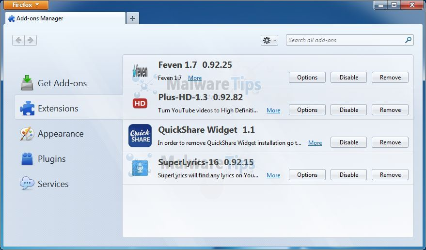 [Image: QuickShare Firefox extension]