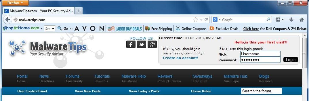 [Image: ShopAtHome.com toolbar virus]