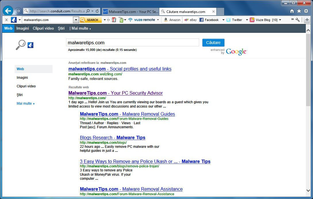 [Image: Vuze Remote Customized Web Search]
