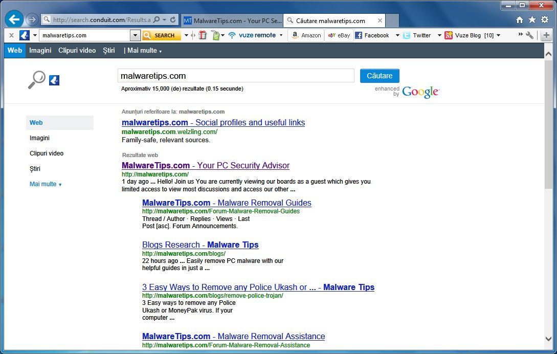 [Image: Vuze Remote Customized Web Search]
