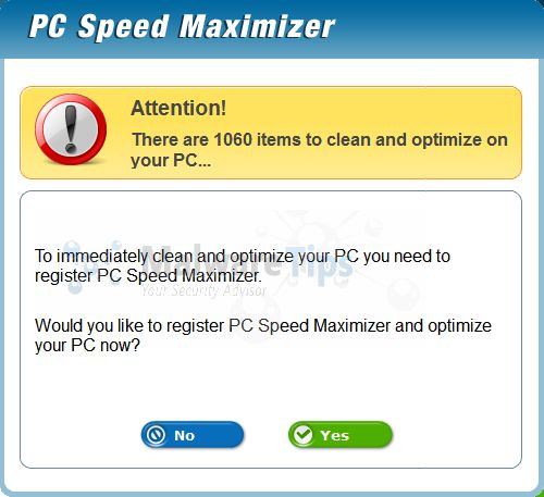 [Image: PC Speed Maximizer infection]